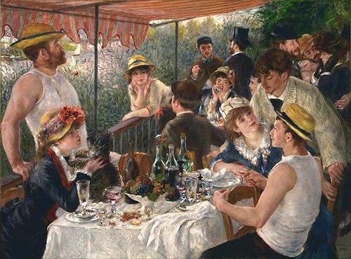 Almuerzo de la fiesta en bote - Renoir