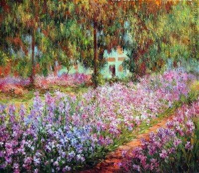 El jardín del artista en Giverny - Claude Monet 1