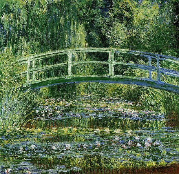Nenúfares y puente japonés - Claude Monet 1